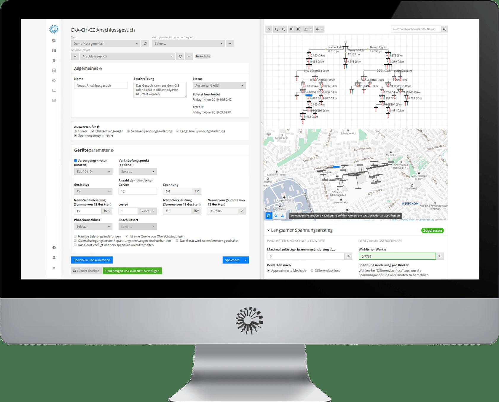 Adaptricity.Plan Interactive Screen