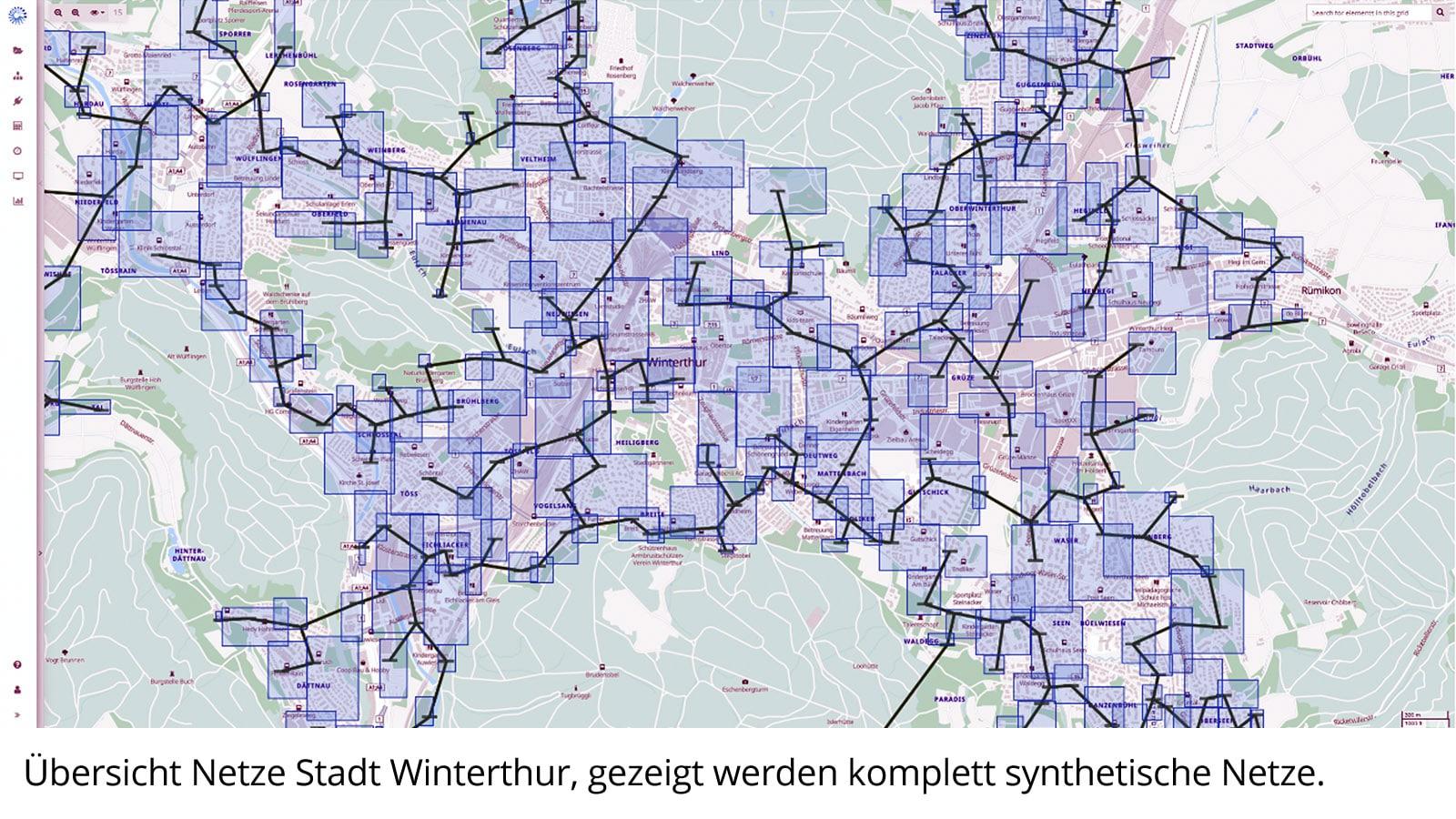 Netzübersicht Winterthur